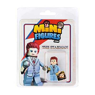 Custom Design Minifigure - David Bowie The Star Man - Collectable Toy Figurine for Kids, Men and Women | Music: Toys & Games