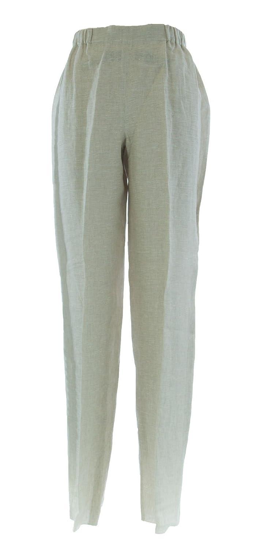MARINA RINALDI by MaxMara Birori Beige Elastic Waist Unhemmed Dress Pants