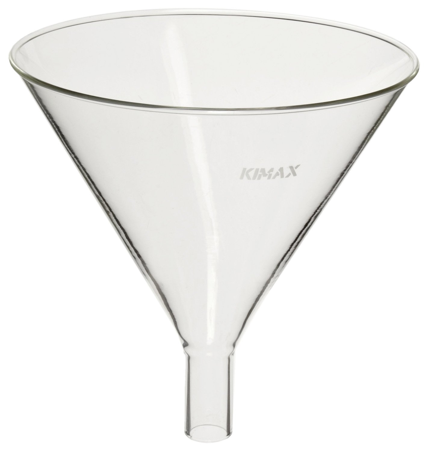 Kimble 29020-100 Glass Round Powder Filling Funnel, with 1.5'' Stem, 100mm Diameter (Pack of 6)