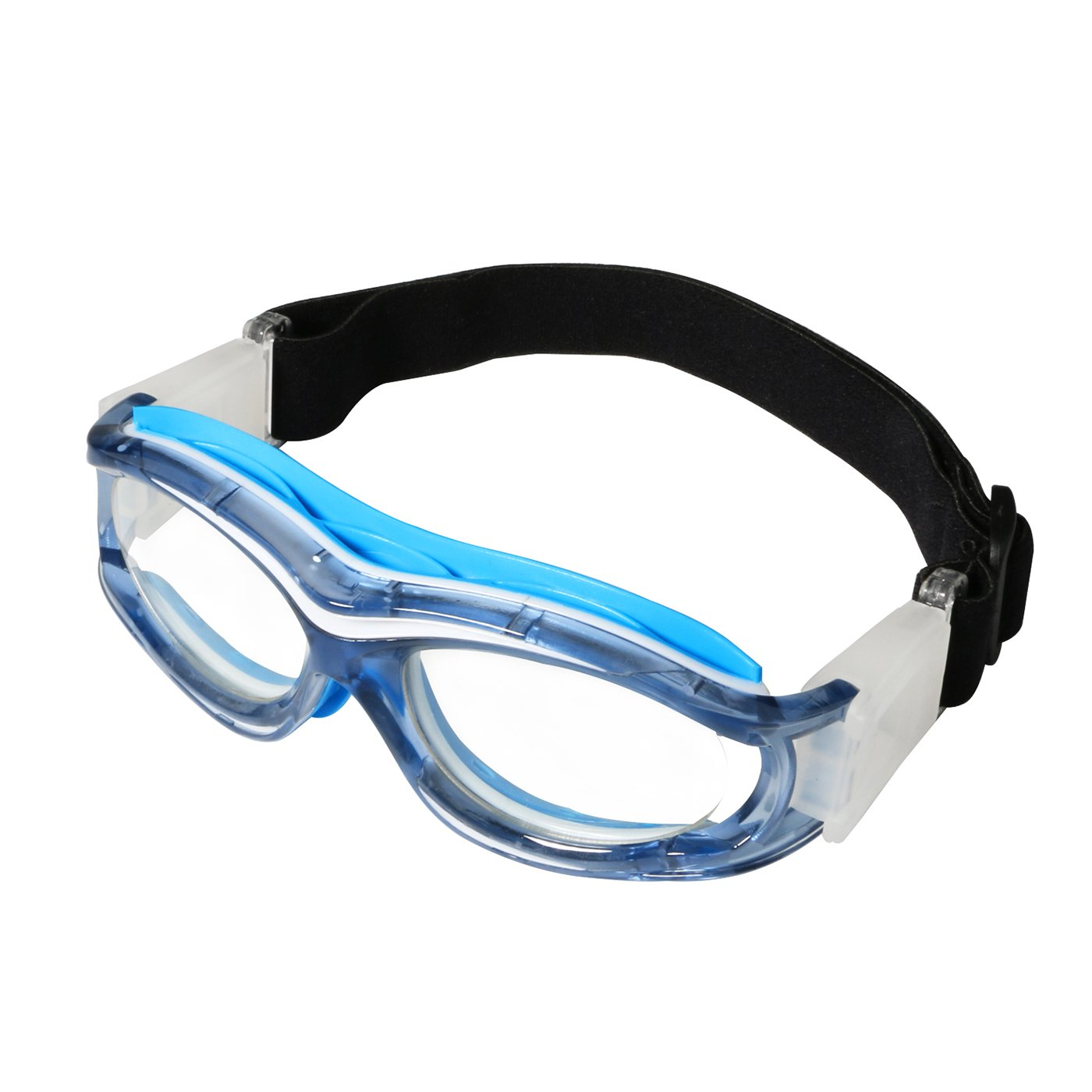 Kids Basketball Goggles Clear Lens Teenager Sports Glasses Protection Impact-resistant Glasses Eyewear with Adjustable Strap Removable Headband Sports Goggles