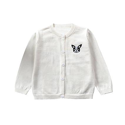 Feixiang Ropa para bebés niños otoño e invierno infantil recién nacido cardigan abrigo niño niña niño