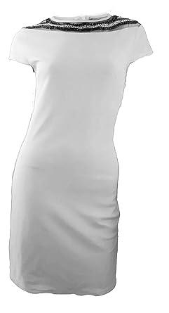 Kleid dunkelblau beige