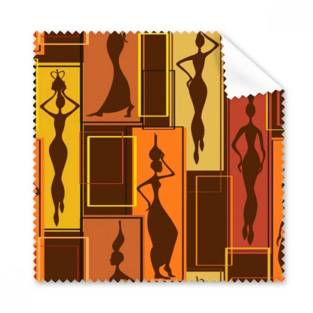 アフリカAboriginalブラックレディースアート抽象Glasses布クリーニングクロスギフト電話画面クリーナー5点   B072JC9V63
