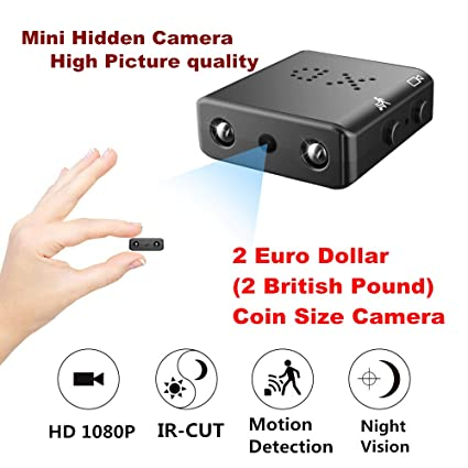Mini Cámara Espía Oculta Videocámara,ZTour HD 1080P Cámara Vigilancia Portátil Secreta Compacta con Detector