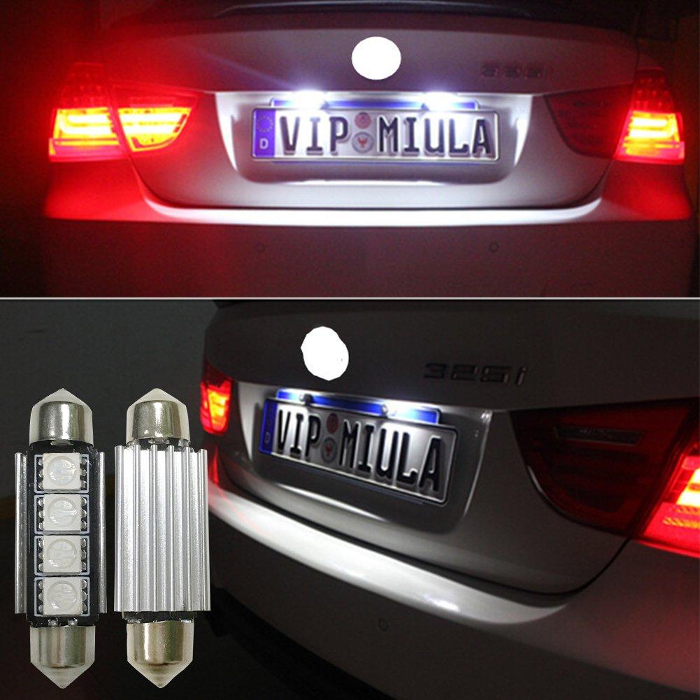 6PCS X Lianqi 4-SMD Error Free 6411 578 LED Bulb For Car Interior Dome Light or Trunk Light Blue