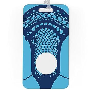 a1c7546785a5 Guys Lacrosse Luggage & Bag Tag | Large Lacrosse Stick | Custom Info on  Back | LARGE | CAROLINA/NAVY