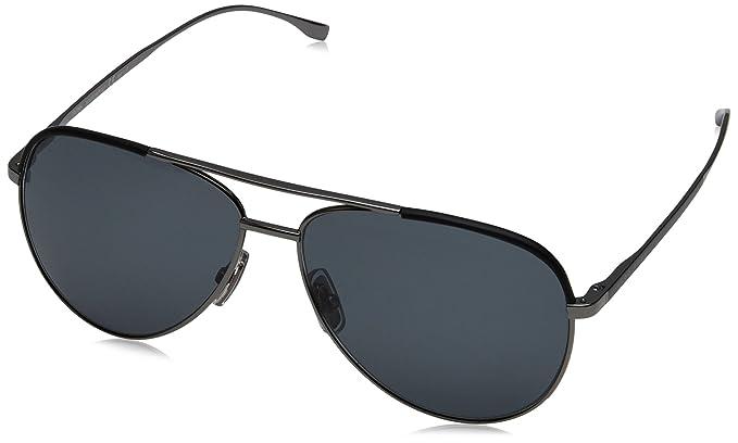 94e7a9b40766 Boss Unisex-Adult's 0782/S RA Sunglasses, Gunmetal Black, 60: Amazon ...
