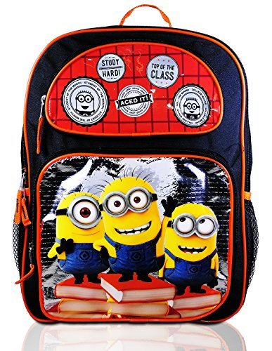 Disney Boy's Backpack with Lunchbox Set and Value Packs (Minions 16