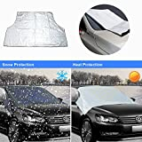 Thinkcase Car Windshield Snow & Ice Cover and Sun Shade Protector for All Vehicles-Covers Wipers, Ice, Frost Guard, No More Scraping, Door Flaps Windproof Magnetic Edges