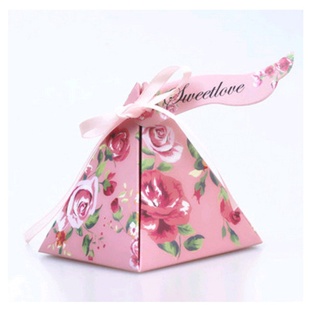 Amazon.com: WSHINE Candy Box Paper Wedding Favors Candy Boxes Party ...
