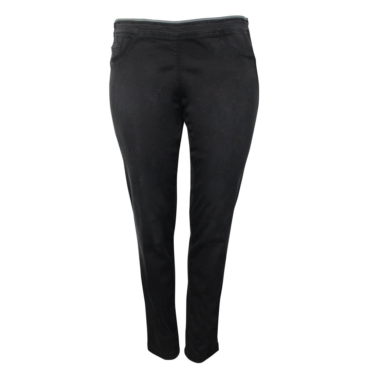 Elena Miro Womens Slim Jegging Pant Plus Size Black 18 by Elena Miro