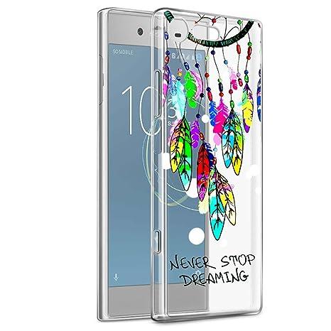 Eouine Funda Sony Xperia XZ1, Cárcasa Ultrafina Silicona 3D Transparente con Dibujos [Antigolpes]
