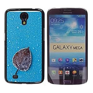 KLONGSHOP // Cubierta de piel con cierre a presión Shell trasero duro de goma Protección Caso - Iced Leaf - Samsung Galaxy Mega 6.3 //