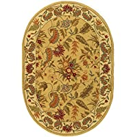 Safavieh Chelsea Collection HK141A Hand-Hooked Ivory Premium Wool Oval Area Rug (46 x 66 Oval)