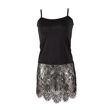 White Tank Black Lace Dress