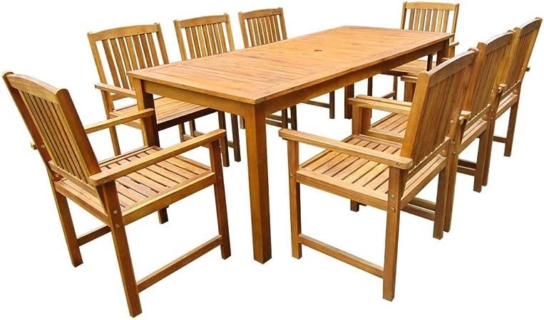 8 Places Table À Manger En Bois Et Ensemble De Chaises Buy