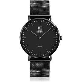 [ルビウスタン]RUBEUSTAN 腕時計 メンズ 防水 超薄型