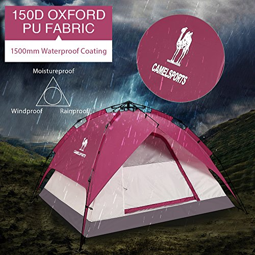 Spring bar tents for camping