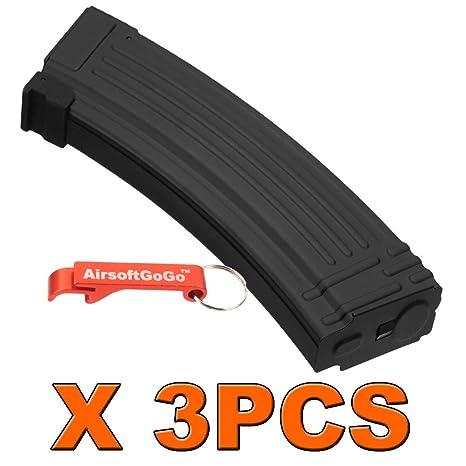 AirsoftGoGo 3PCS X AK 140rds Metal Mid-Cap Cargador para ...