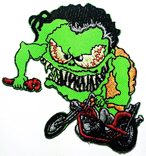 Price comparison product image R.F. Rat Fink Big Daddy Hot Rod Cross Racing logo patch Jacket T-shirt Sew Iron on Patch Badge Embroidery