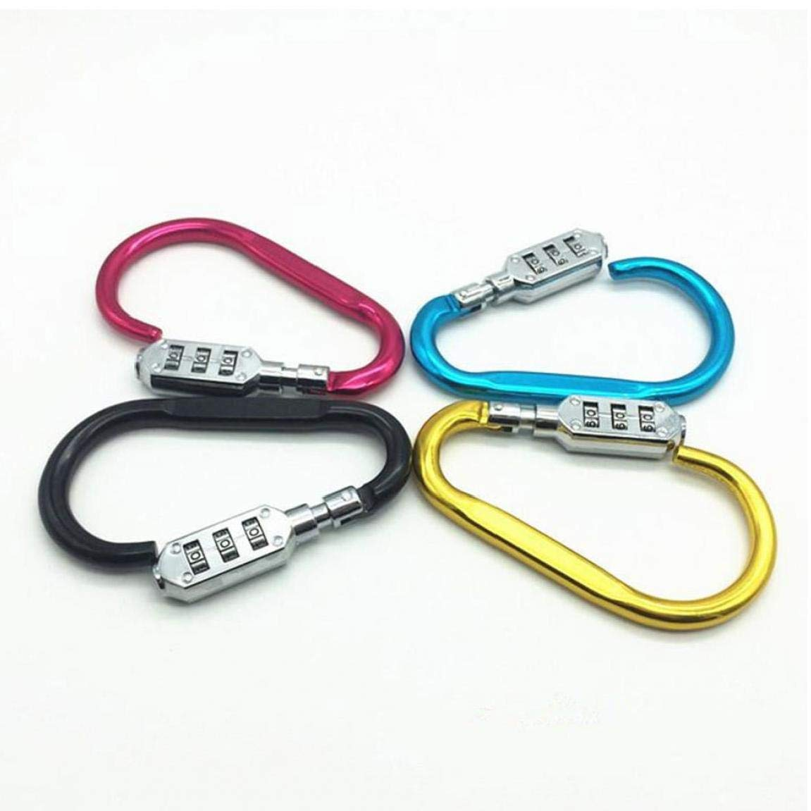 1pc Moschettone Blocco 3 Cifre Lucchetto della Valigia dei Bagagli Borsa Codice Viaggi Combination Lock Security Locks