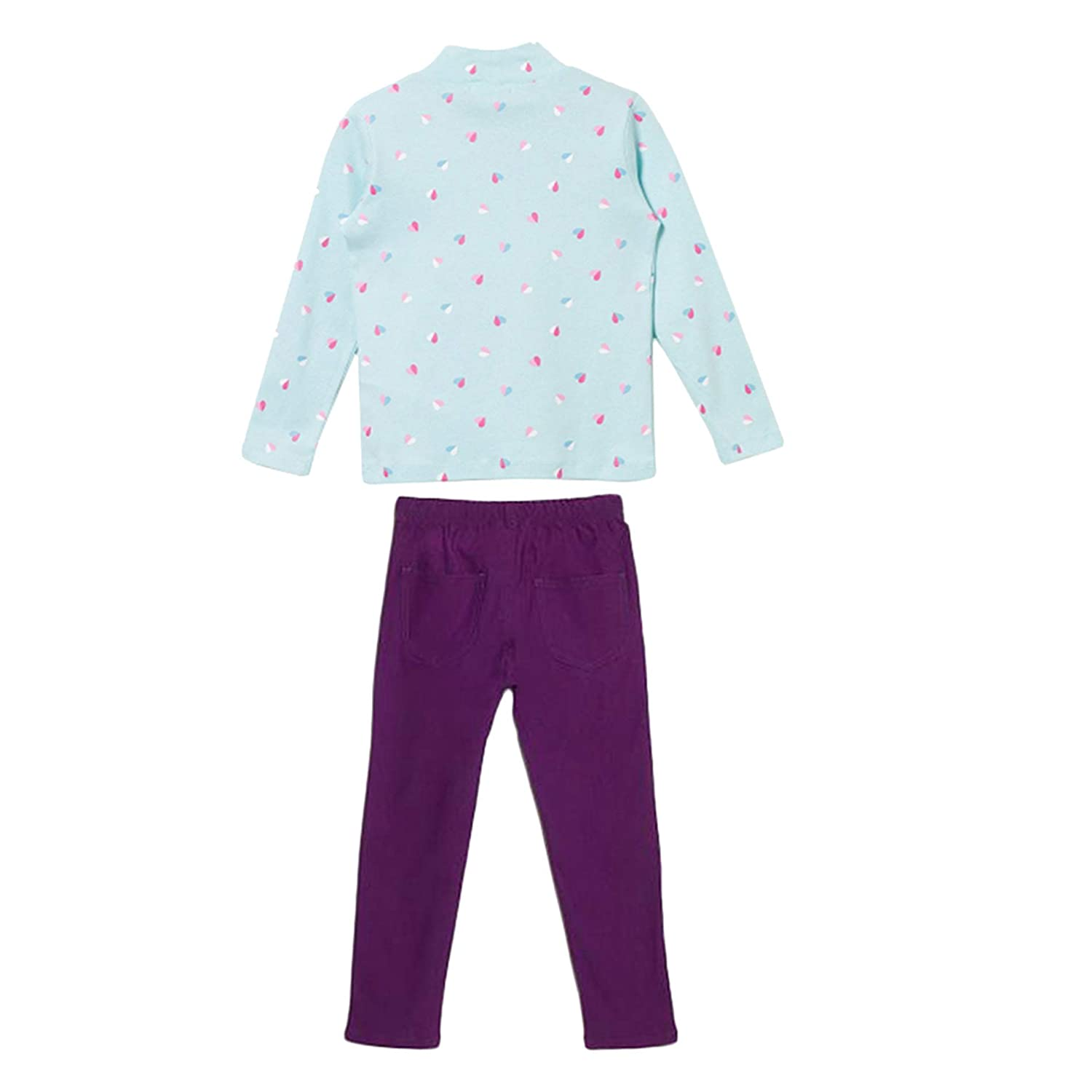 bossini Carnival Girls 2 Pack Long-Sleeved T-Shirt /& Casual Solid Coloured Elasticised Leggings Size 4t 10