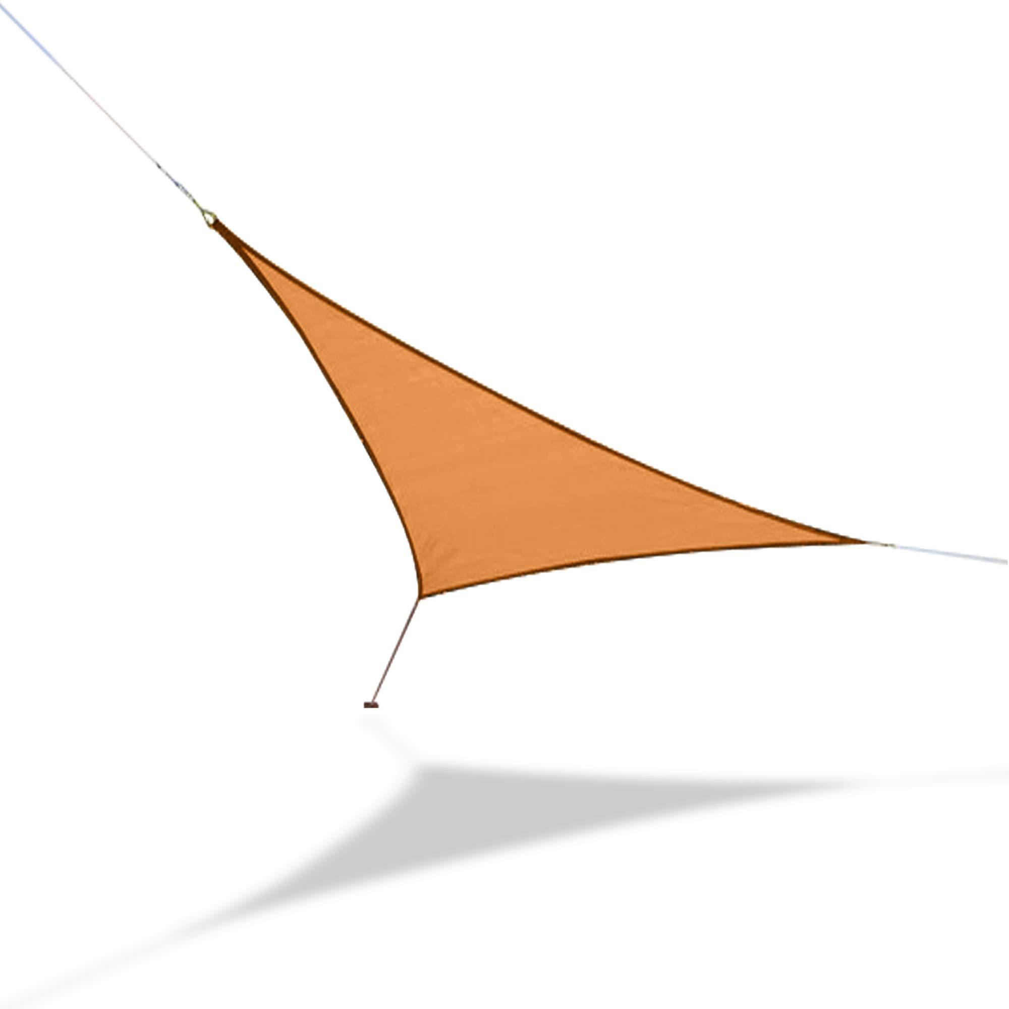 Hammaka Woven Backyard Triangle Sail Sun Shade (Small, Beige)