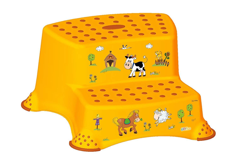 2er Set Z Funny Farm apricot WC Aufsatz Hocker zweistufig Toilettentrainer