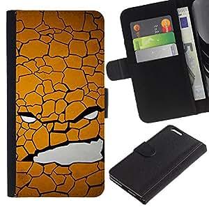 BearCase / Cuero de la tarjeta la carpeta del tirón Smartphone Slots Protección Holder /// Apple Iphone 6 PLUS 5.5 /// Cara Textura