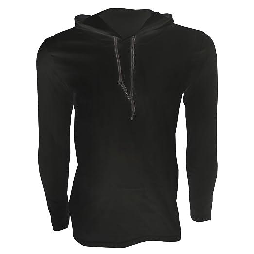 8b6aea84a61 Amazon.com  Anvil Mens Fashion Plain Long Sleeve Hooded T-Shirt ...