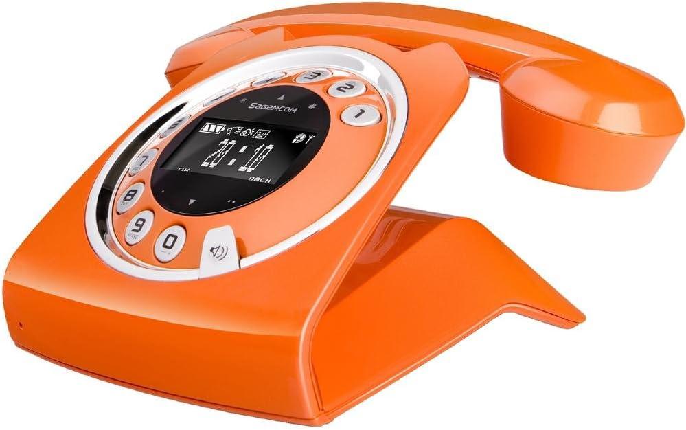 Sagemcom Sixty - Teléfono fijo digital, naranja: Amazon.es: Electrónica