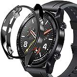 Huawei Watch GT ケース ファーウェイウォッチGTカバー ソフト TPU 全面保護ケース Huawei Watch GT専用 ケース バンパーカバー スクラッチ防止 高透過率 防爆裂 TPU材料ケース 擦り傷防止 超薄 軽量 薄型(ブラック)