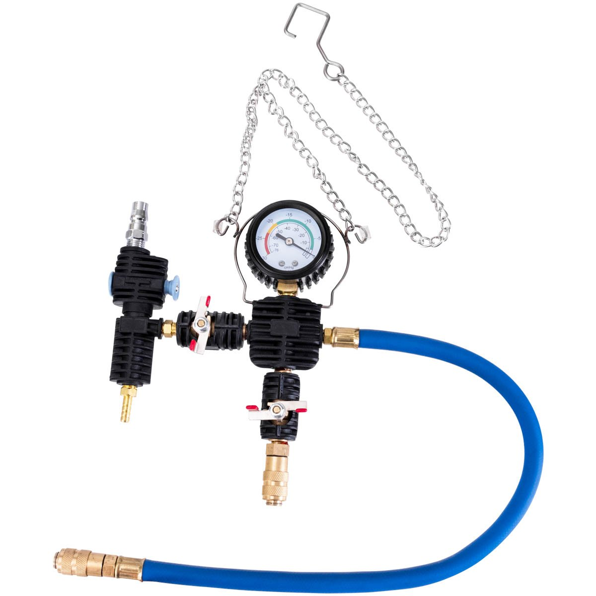Goplus 28PCS Universal Radiator Pressure Tester Leak Checker Vacuum Type Cooling System Automotive Radiator Pressure Test Kit Purge and Refill Kit Set w/Carrying Case by Goplus (Image #7)