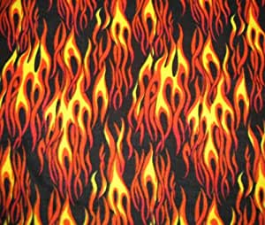 Hot Rod Flame Fleece Throw Blanket