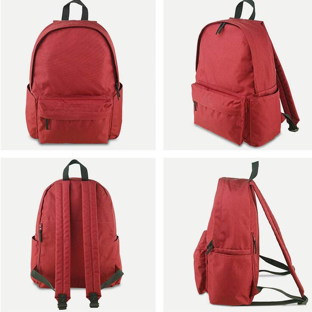 Womens Fashion Oxford Folding Backpack Chenjinxiang01 Solid Color Backpack Bag red, Blue, Black, White, Green, Gray Color : Pink