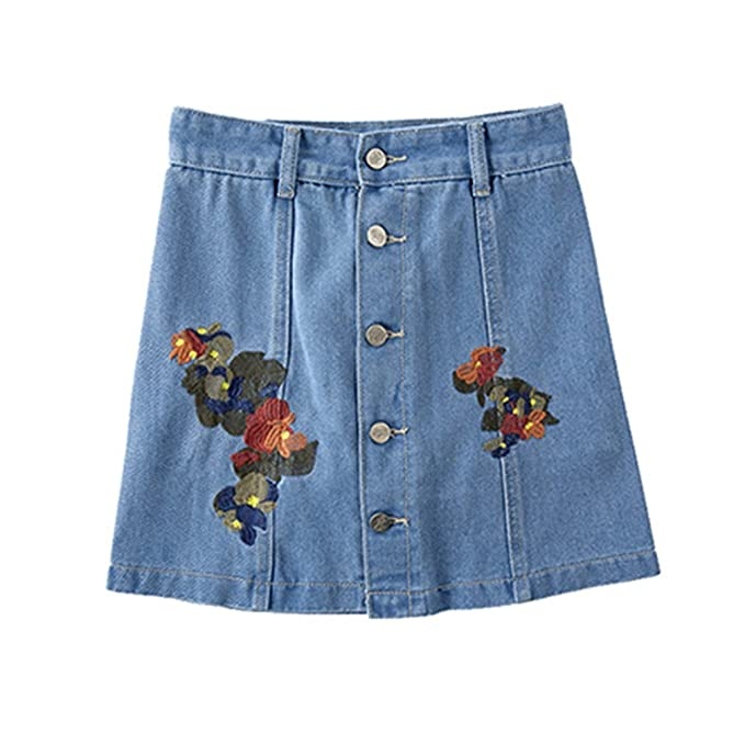 Pantalones Cortos Mezclilla Cintura Alta Faldas Mujeres ...