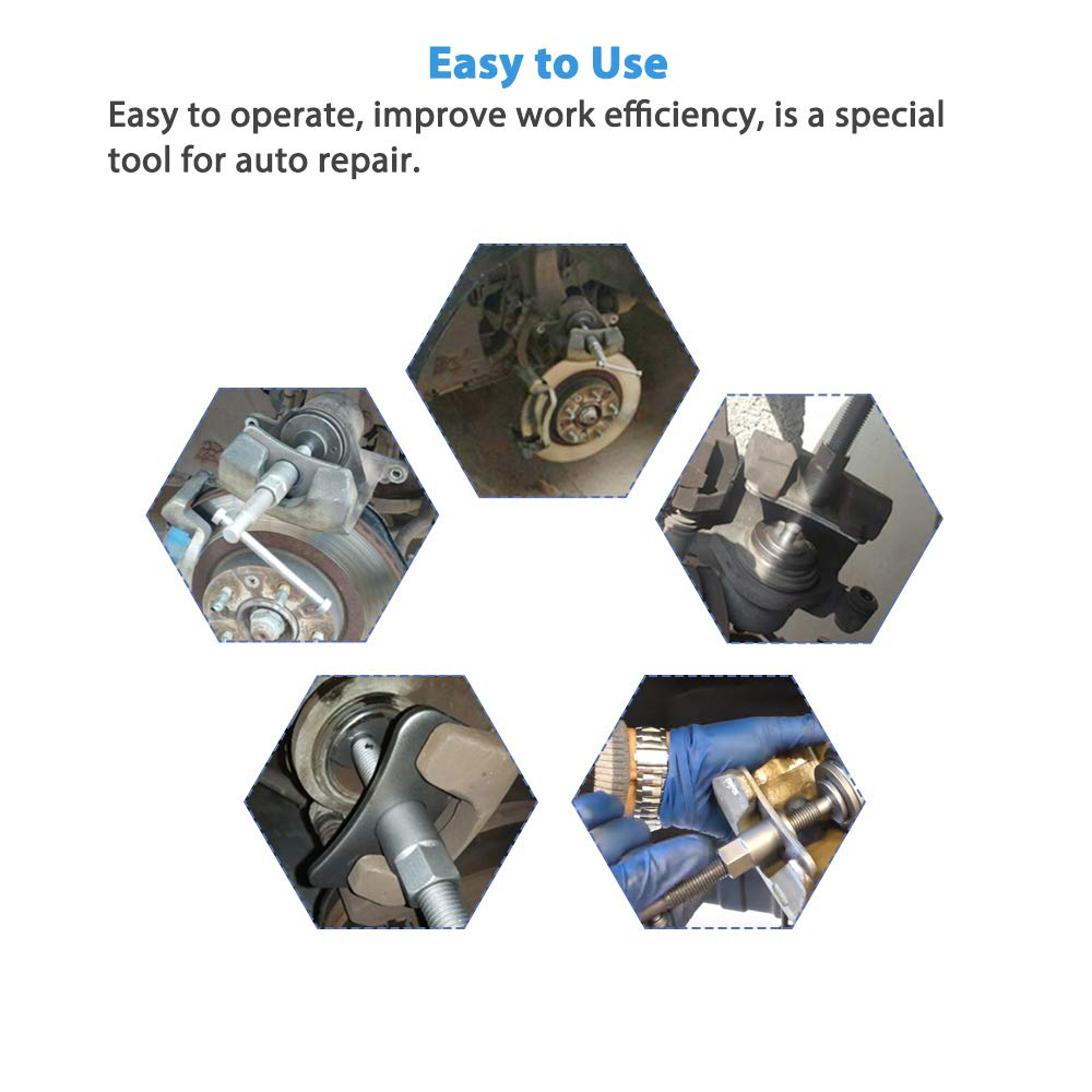 A ABIGAIL Disc Brake Caliper Wind Back Tool Kit Front and Rear Brake Piston Compression Tool Professional Automotive Mechanic Tool Set