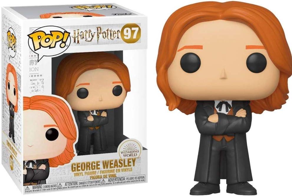 Funko - Pop! Harry Potter: George Weasley (Yule) Figura De Vinil , Multicolor (42843)