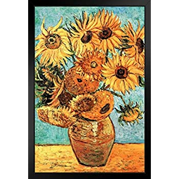 ProFrames Vincent Van Gogh Vase With Twelve Sunflowers 1888 Art Print Framed Poster 12x18