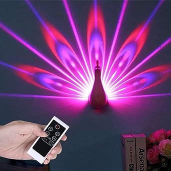 Lámpara Proyector Infantil Estrellas LED Night Light Pavo Real 7 ...
