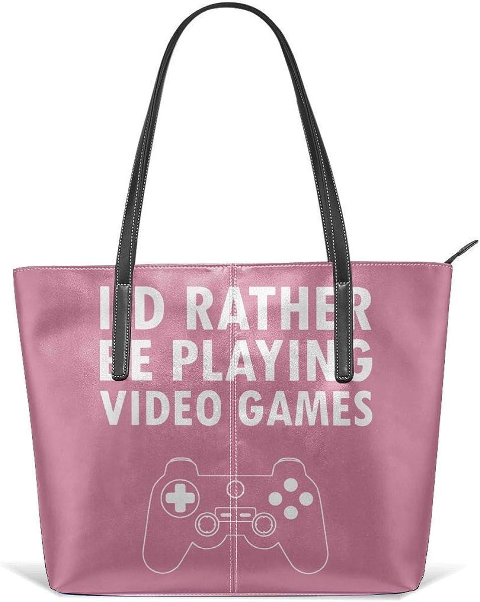 Bolsos de moda Tote Bag Top Handle Shoulder Bags Dressdown I'd Rather Be Playing Video Games Large Shopping Bag