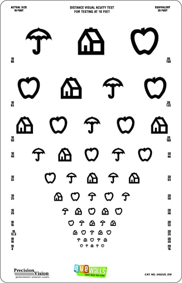 image regarding Children's Eye Chart Printable identify Little ones Peel and Adhere 11\u201dx17\u201d Eye Try out Chart (EyeWalls)