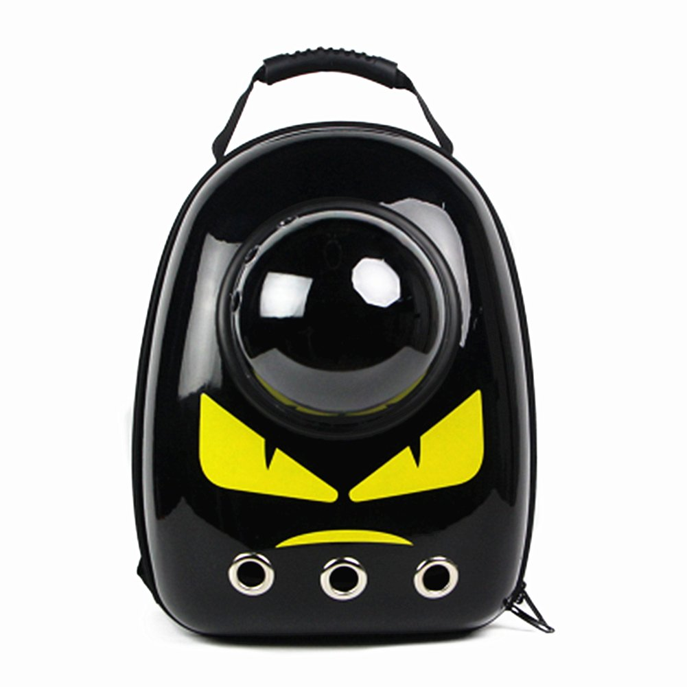 GPR ペット バッグ ペット用キャリーバッグ 宇宙船カプセル型ペットバッグ 犬猫兼用 ネコ ニャンコ 犬 バッグ リュック型ペットキャリー 人気ペット鞄 (黄色目モンスター)