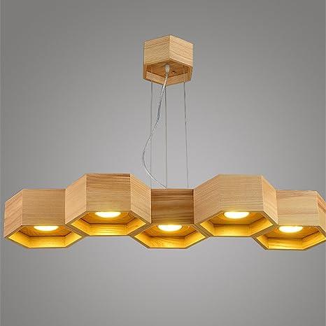 LE Madera/Lámparas colgantes, Sala de estar Comedor Lámpara empotrada LED Lámpara de colmenas