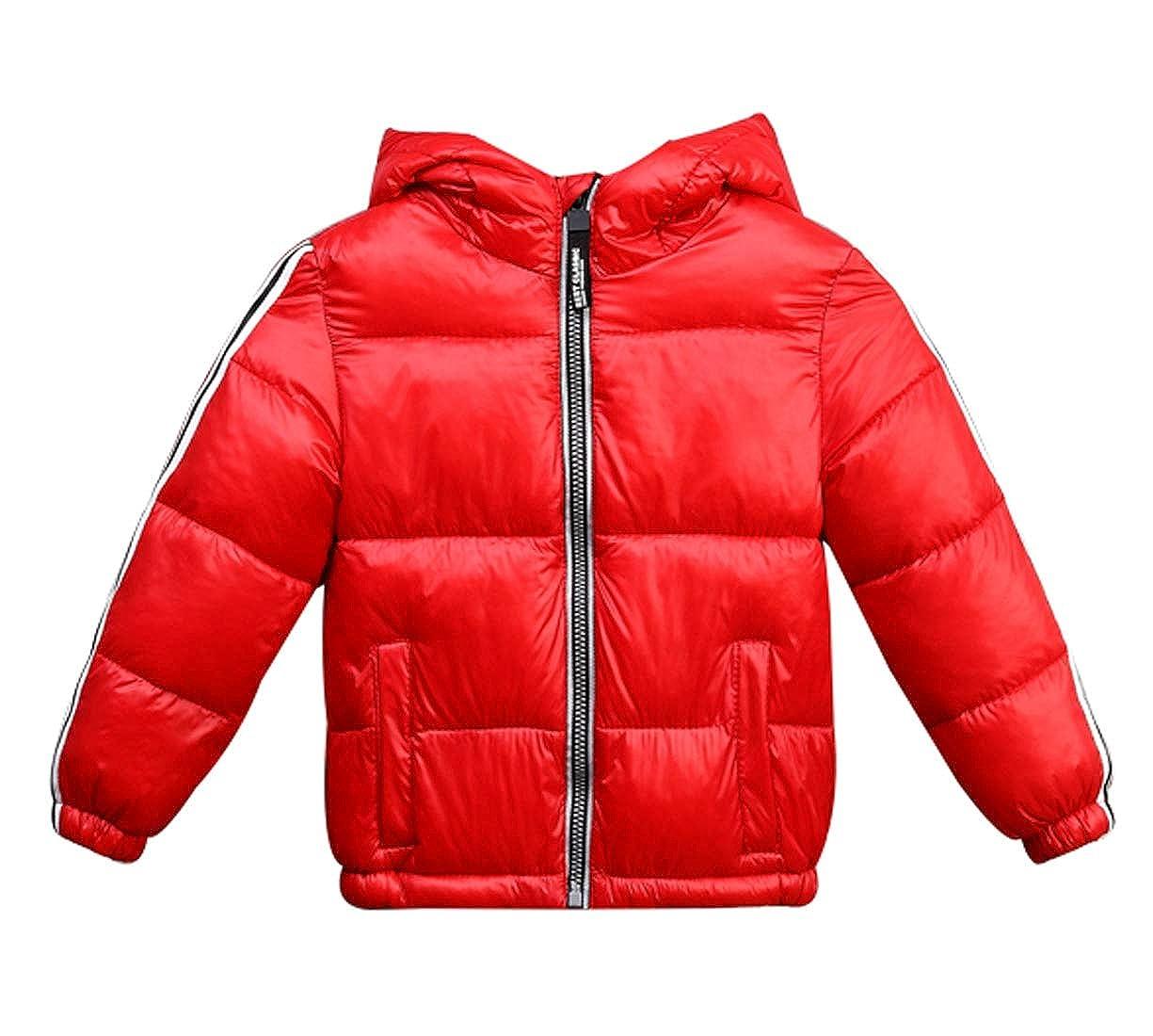 Happy Cherry Boys Girls Puffer Down Jacket Lightweight Coat Hoodie Outwear 2-10T