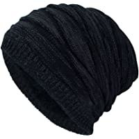 DD UP Winter Beanie Hat Men Warm Knit Long Slouch Skull Cap Thermal with  Soft Fleece 28dbe34bb0c