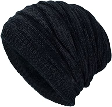Man Riding A Bicycle Men /& Women Solid Color Beanie Hat Thin Stretchy /& Soft Winter Cap