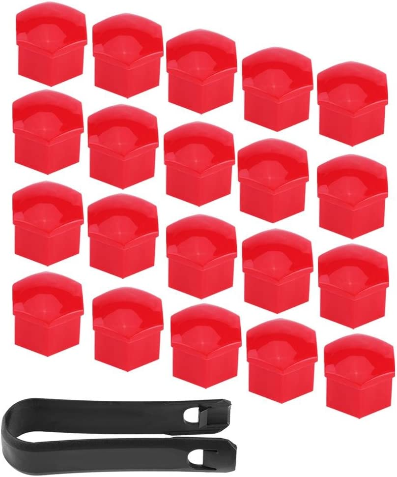 cubierta de rueda para tapacubos y herramienta de extracci/ón universal cubierta de tornillo Keeno 20 piezas de 17 mm para tuercas de llanta de coche