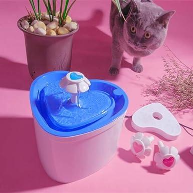 Fuente de Agua Gatos y Perros, Dispensador de Agua Automático para Mascotas, Bebedero Automático