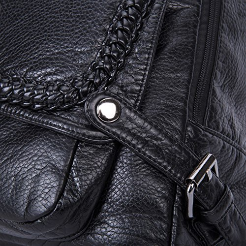 VESIA  4545974-Ve, Damen Rucksackhandtasche Schwarz schwarz